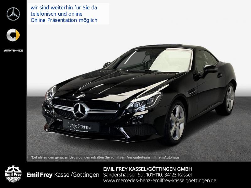 Mercedes-Benz SLC 200+LED+Navi+schwarz/beige+Airscarf, Jahr 2019, Benzin