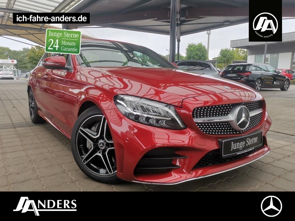 Mercedes-Benz C 300 AMG+Spur-P+360+HUD+LED+Memo+Navi+SHZ+Apple, Jahr 2019, Benzin