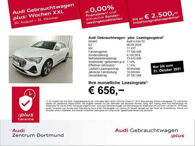 Audi e-tron 55 qu. 2xS line/V-Spiegel/Matrix/Pano/360°/B+O, Jahr 2020, Elektro