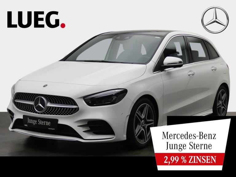 Mercedes-Benz B 200 AMG+MBUX+NavPrem+Pano+Mbeam+Mem+KeyGo+360°, Jahr 2019, Benzin