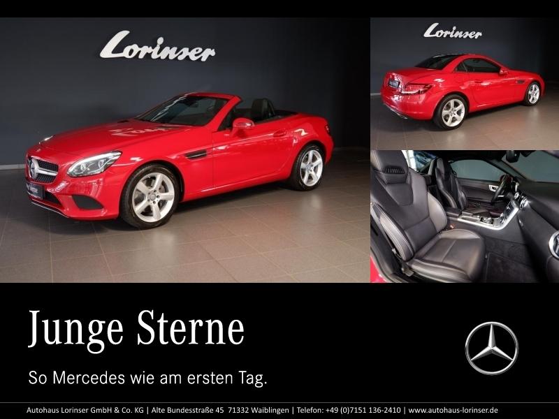 Mercedes-Benz SLC 300 DISTRONIC/COMAND/LED ILS/SPURHALTE/PTS, Jahr 2016, petrol