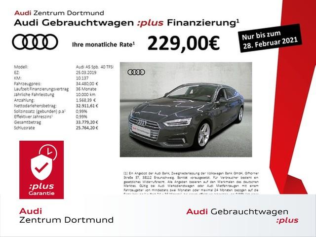 Audi A5 Sportback sport 40TFSI Navi/AHK/DAB/APS+, Jahr 2019, Benzin
