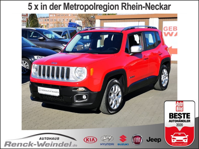 Jeep Renegade Limited FWD 1.4 MultiAir Leder Navi e-Sitze ACC Klima, Jahr 2014, Benzin