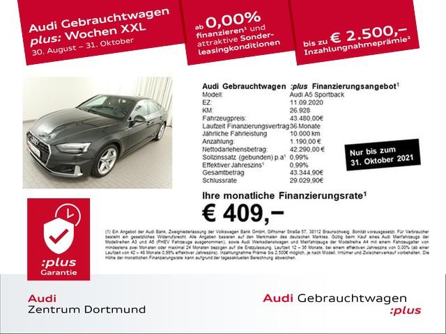 Audi A5 Sportback 45TDI qu. advanced Leder/eSitze/AHK/VC, Jahr 2020, Diesel
