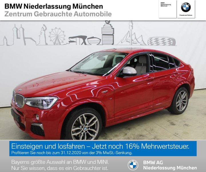BMW X4 M40i Sportpaket Head-Up HiFi DAB LED GSD RFK, Jahr 2017, Benzin