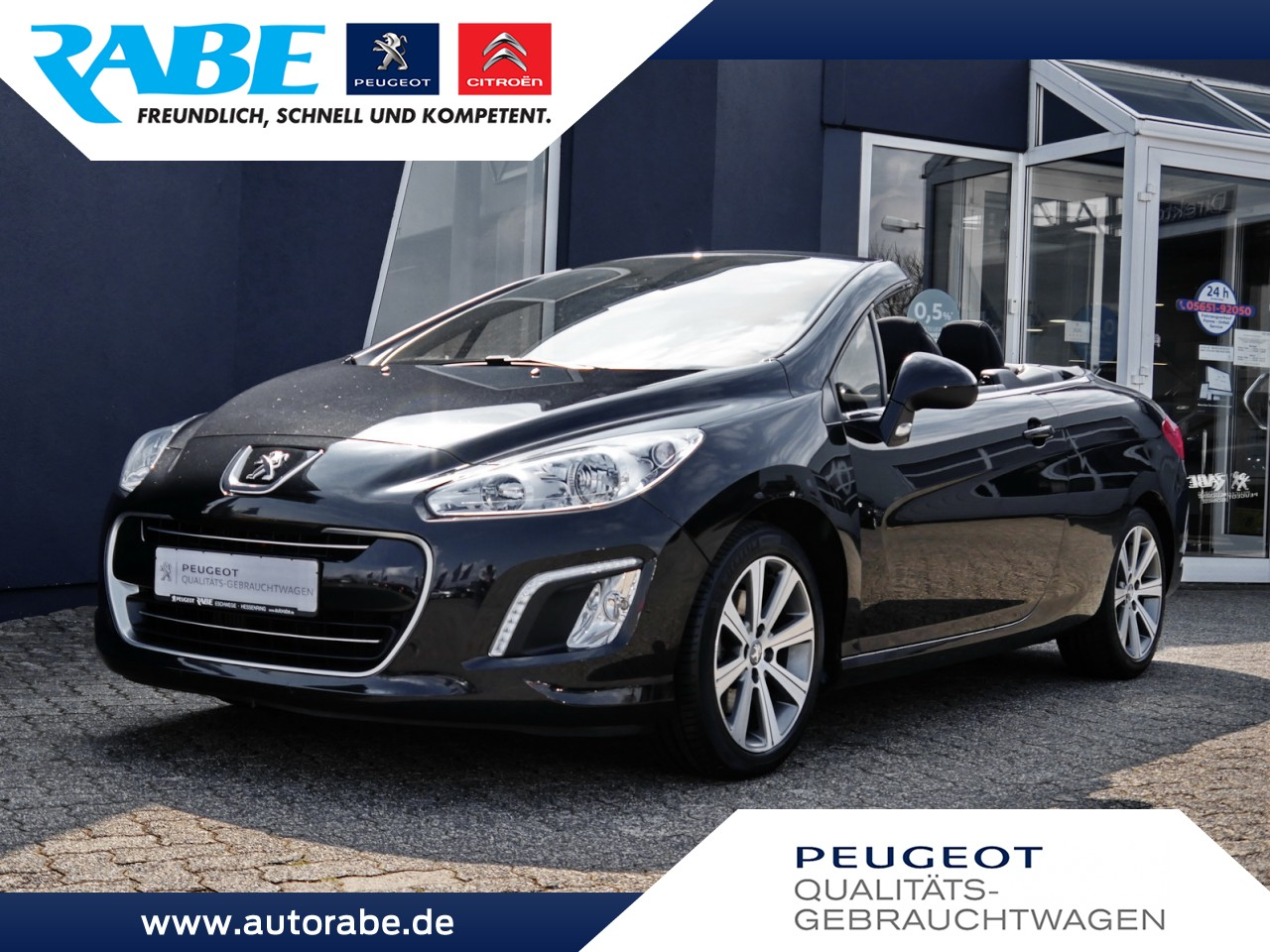 Peugeot 308 CC Active 155 THP Sitzhzg+Alu+Tempomat+AHK, Jahr 2014, Benzin