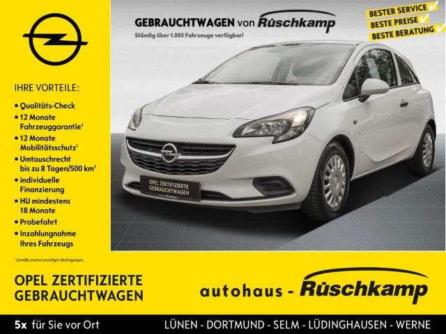 Opel Corsa E 1.2 Selection Klima AUX ESP Scheckheft ABS, Jahr 2016, Benzin