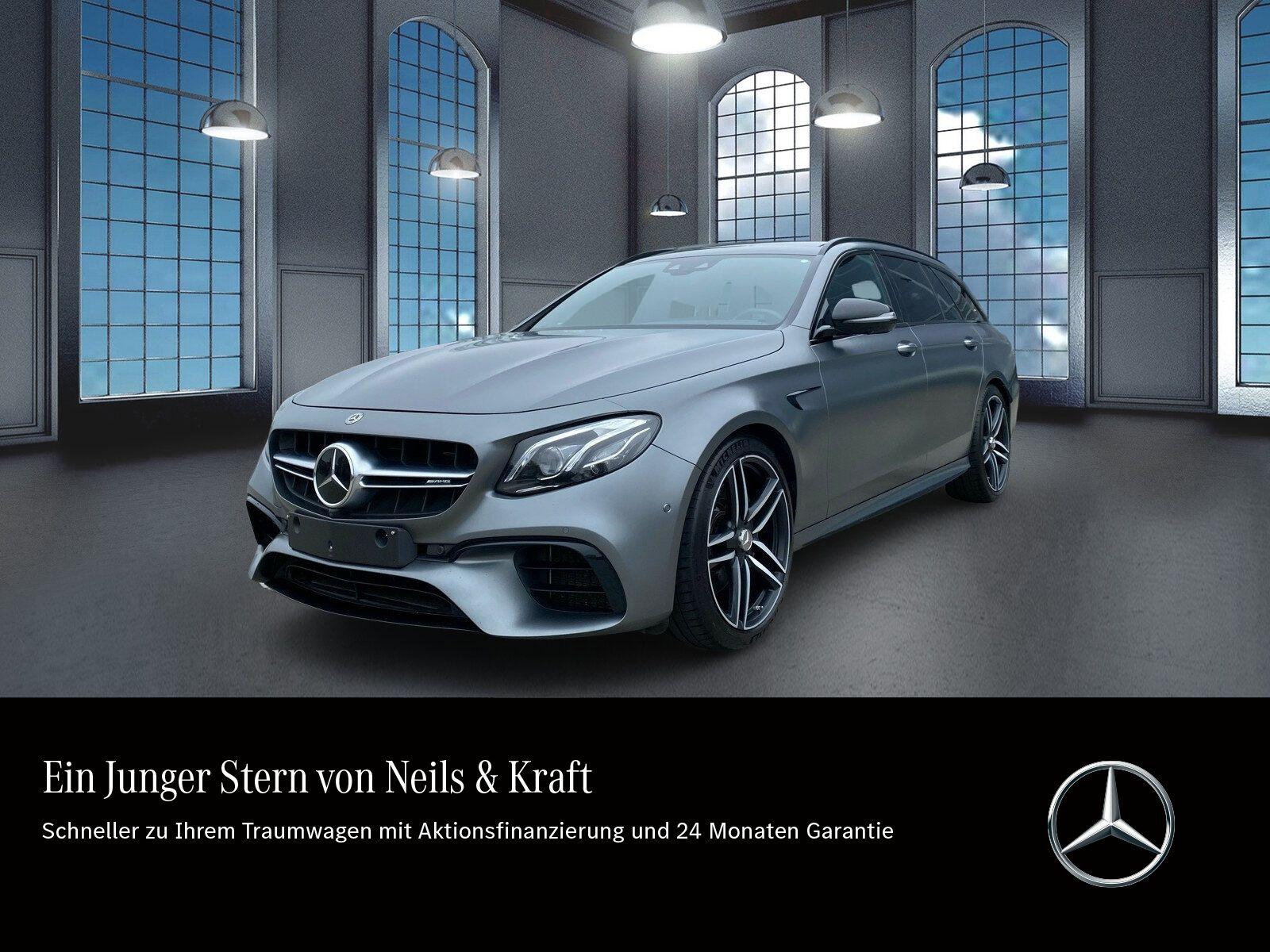 Mercedes-Benz E 63 AMG 4M+ T DRIVERS+NIGHT+PANO+STHZG+HUD+BURM, Jahr 2018, Benzin