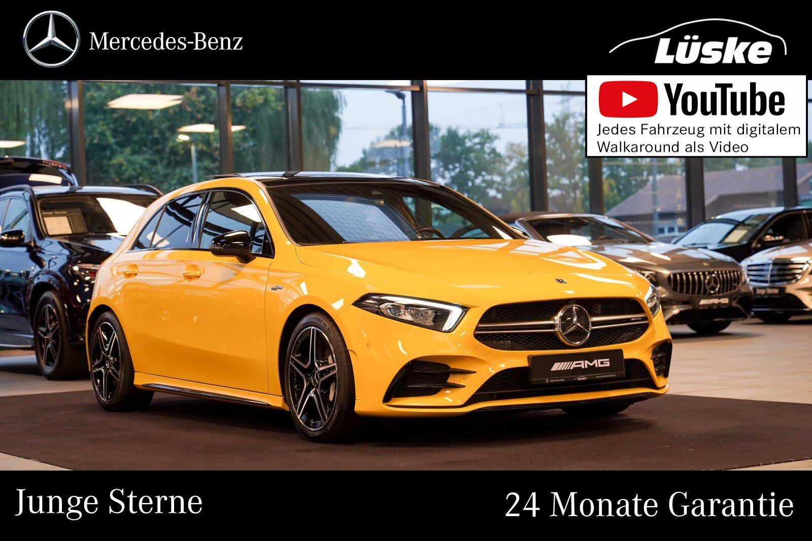 Mercedes-Benz A 35 AMG 4M Night sonnengelb Kamera Panorama LED, Jahr 2019, Benzin