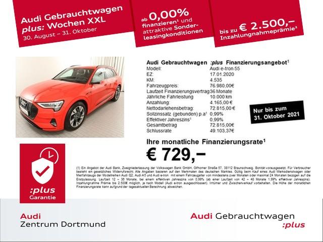 Audi e-tron 55 qu. S line/Black/V-Spiegel/Matrix/360°, Jahr 2020, Elektro