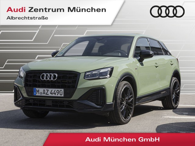 "Audi Q2 35 TFSI S line 19"" Virtual MatrixLED ACC Navi Teilleder R-Kamera S tronic, Jahr 2021, petrol"