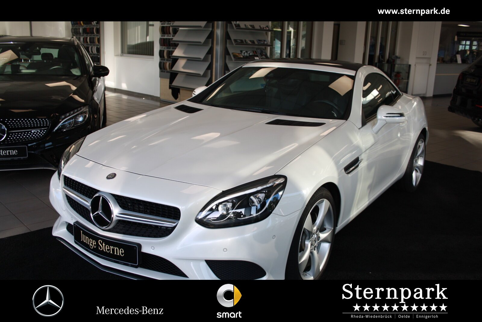 Mercedes-Benz SLC 200 COMAND+Intelligent-Light-LED+Apple-Car-P, Jahr 2017, Benzin