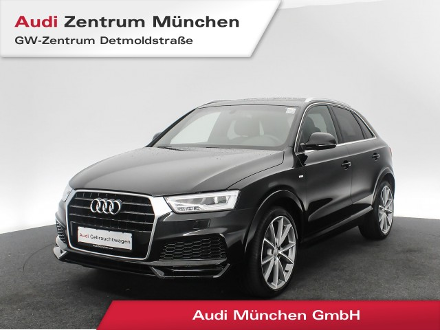 "Audi Q3 1.4 TFSI Sport S line 20"" Pano LED Navi Leder el.Heckklappe S tronic, Jahr 2017, petrol"