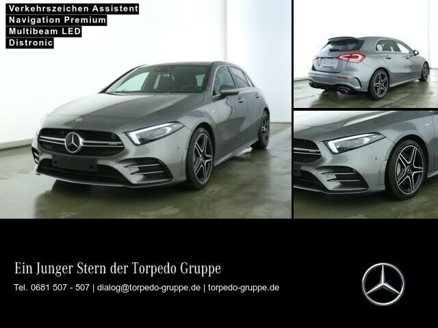 Mercedes-Benz A 35 AMG 4M AMG LINE LED+DISTR+PTS+SHZ+KLIMA+Mem, Jahr 2019, Benzin