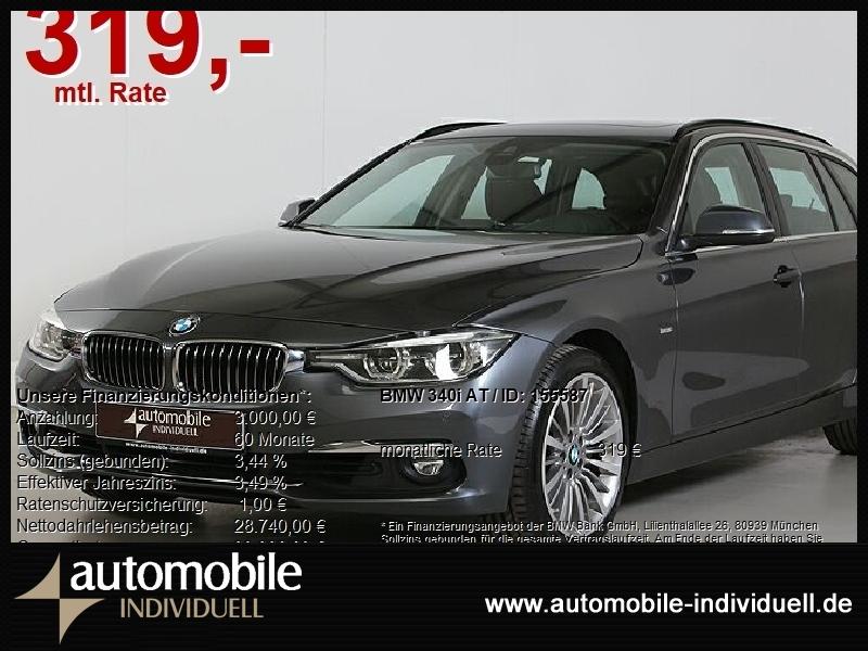 BMW 340i Aut. Luxury Line LED AHK Navi HuD Hifi, Jahr 2018, Benzin
