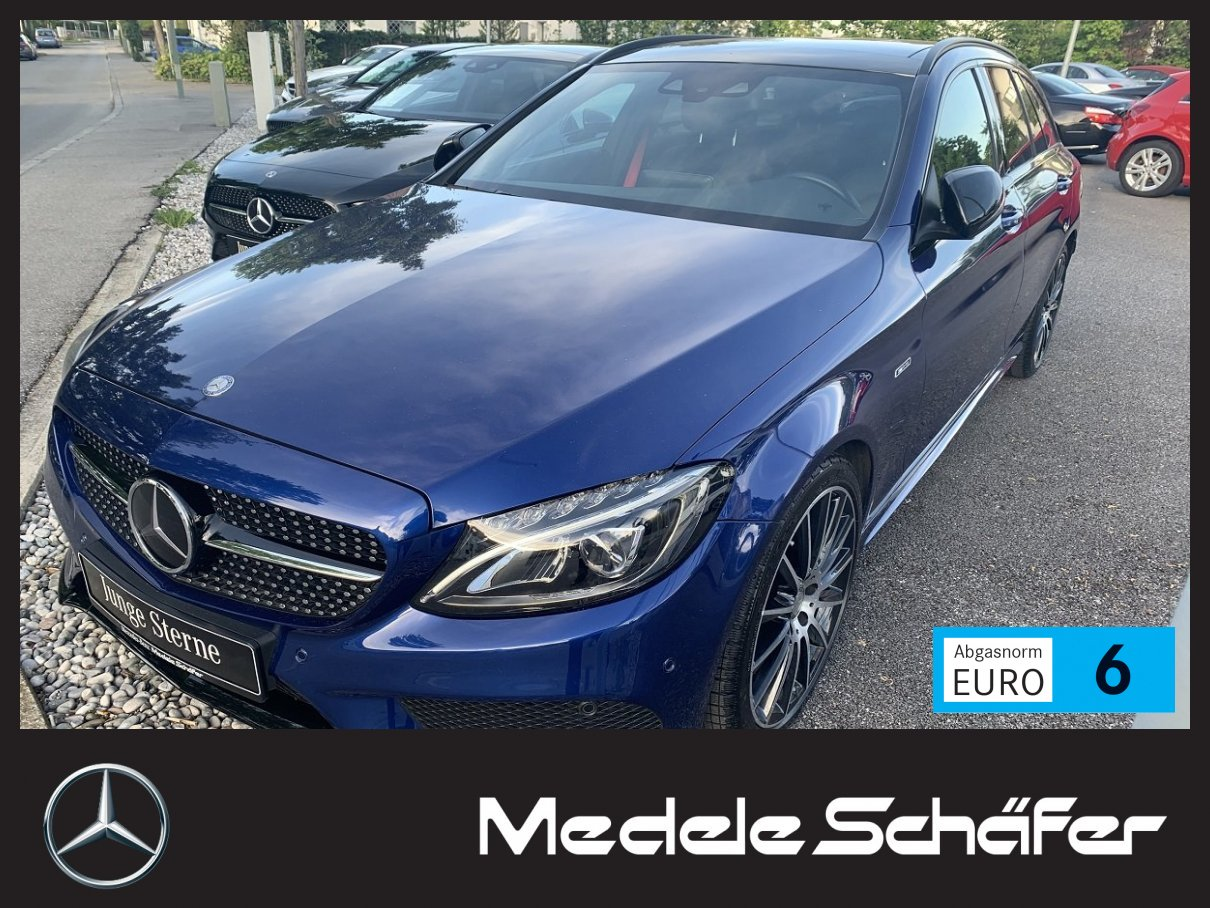 Mercedes-Benz AMG C450/C43 4M Night 7G Pano Distr LED Burm Com, Jahr 2015, Benzin