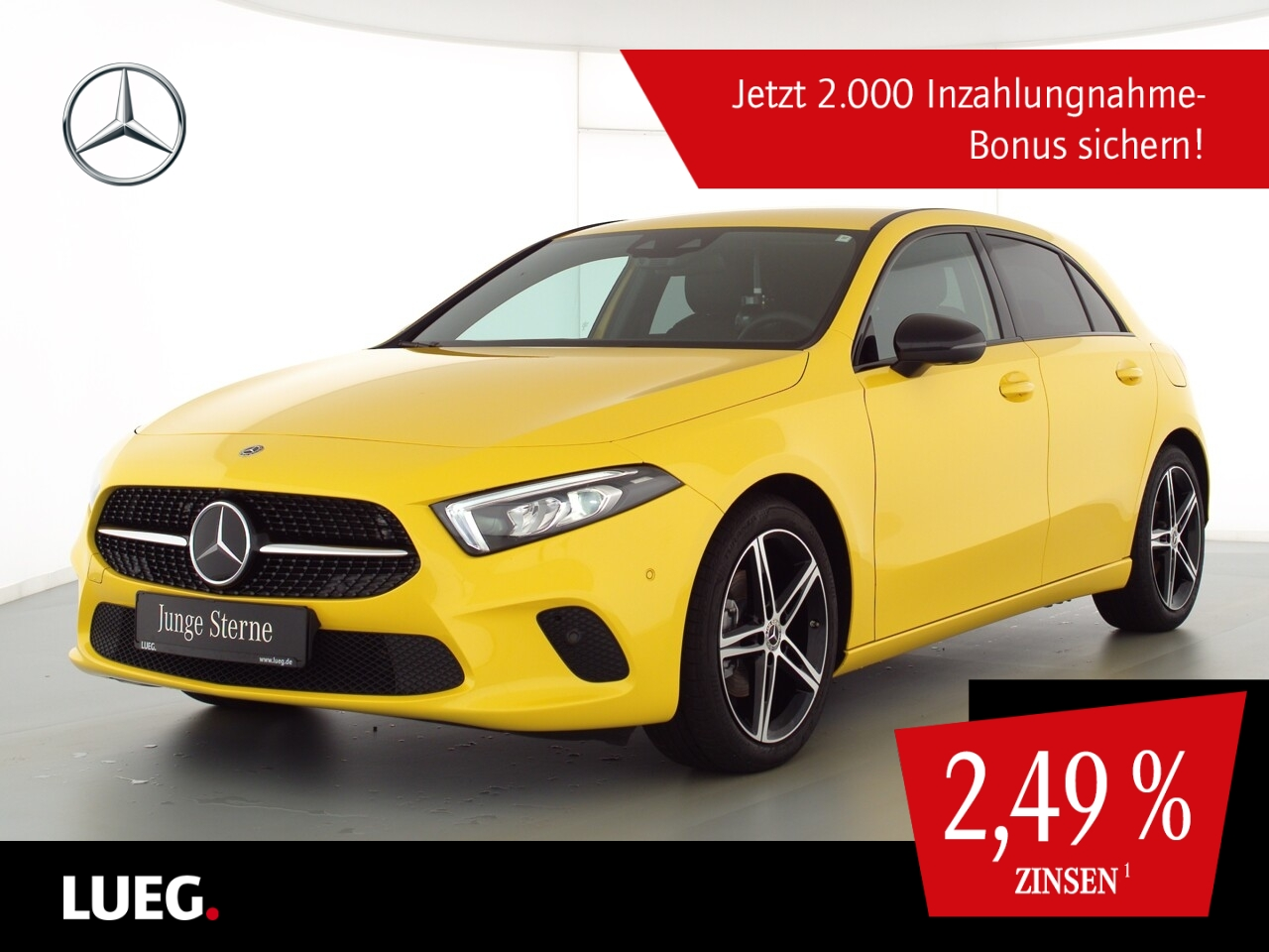 Mercedes-Benz A 180 Progressive+MBUXHighE+LED-HP+AHK+Sthzg+360, Jahr 2020, Benzin