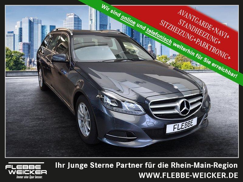 Mercedes-Benz E 200 T+AVANTGARDE+NAVI+STANDHEIZUNG+SHZ+PARKTR., Jahr 2014, Benzin