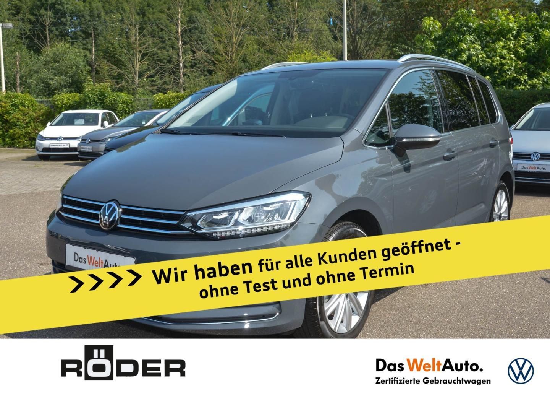 Volkswagen Touran Highline 1.5 TSI DSG LED ACC DAB AppConne, Jahr 2020, Benzin