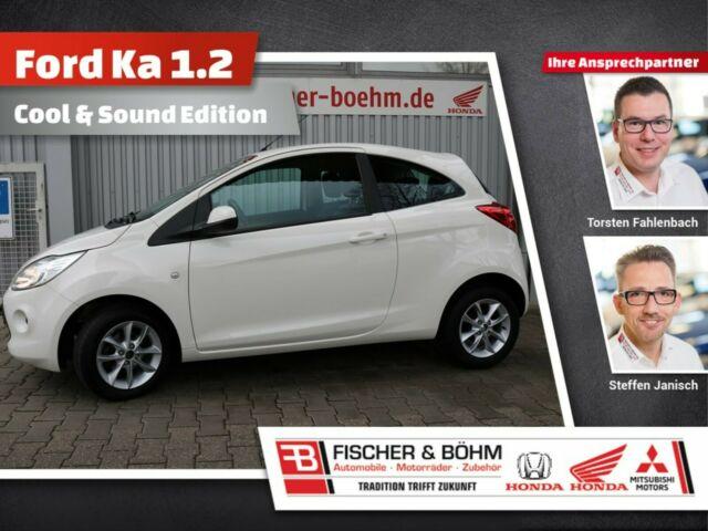 Ford Ka 1.2 Cool & Sound Edition mit Sitzheizung, Jahr 2014, Benzin