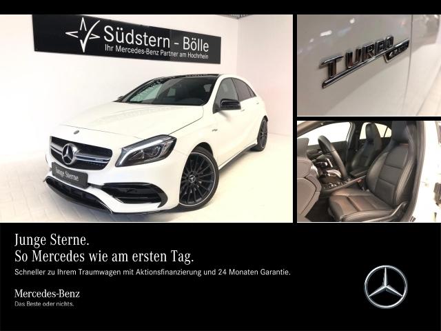 Mercedes-Benz A 45 AMG LED,PanoDach,Kamera,Perf. P.,Harman, Jahr 2016, petrol