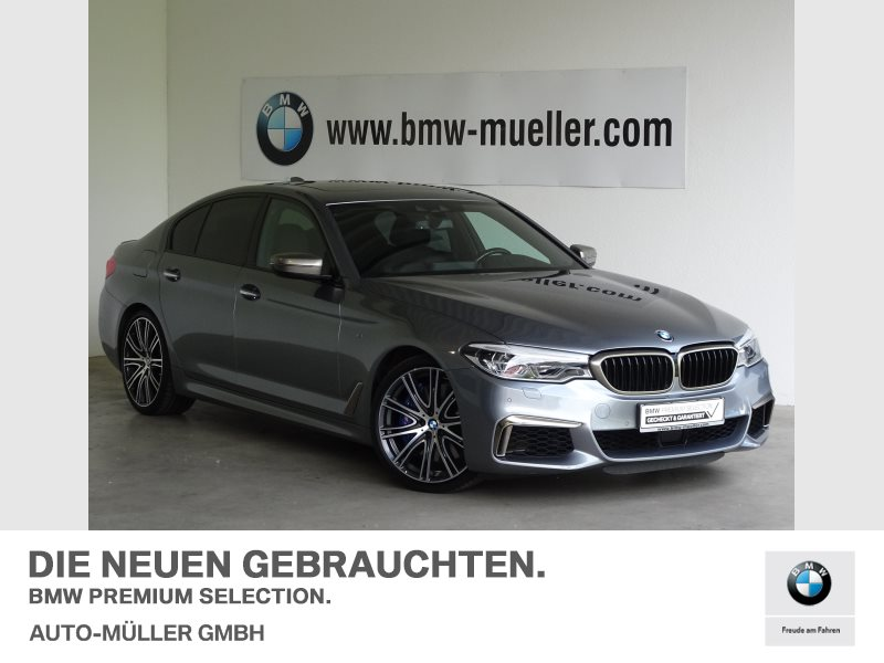 BMW M550i xDrive Limousine Head-Up HK HiFi LED WLAN, Jahr 2017, Benzin