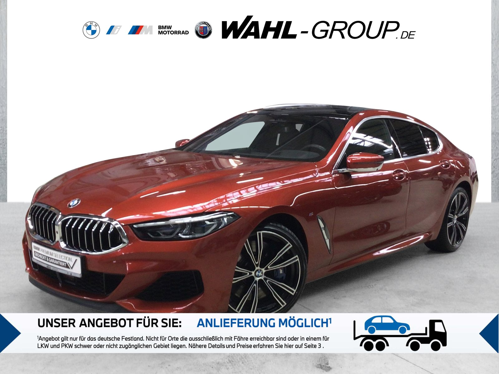 BMW M850i xDrive Gran Coupé Night Vision Head-Up, Jahr 2020, Benzin