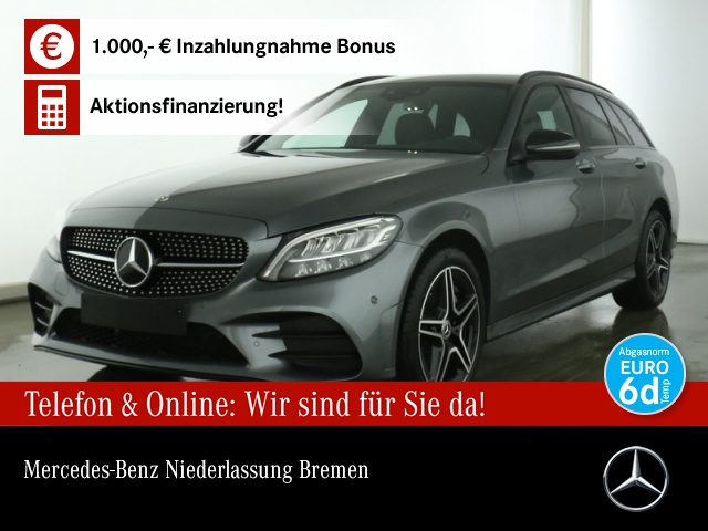Mercedes-Benz C 180 T AMG LED Night Kamera PTS Easy-Pack Sitzh, Jahr 2019, Benzin