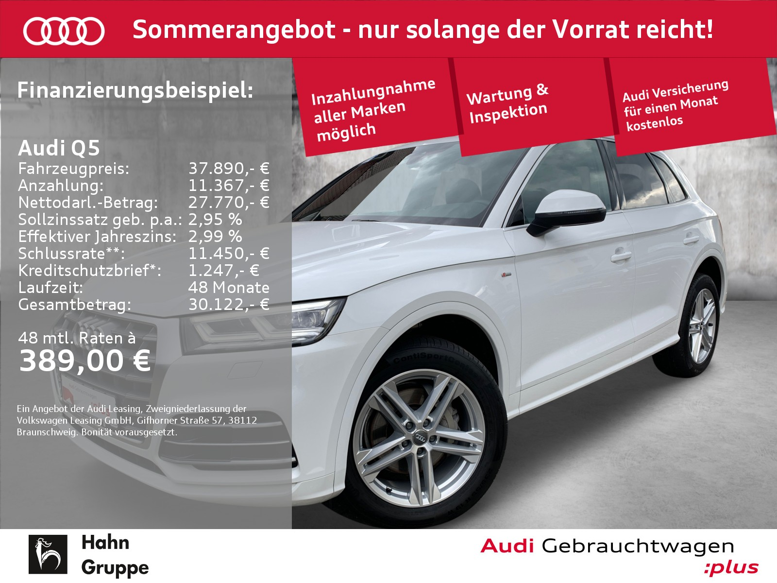Audi Q5 2.0 TDI qua. S-trc S-line Navi LED CAM Pano, Jahr 2018, Diesel