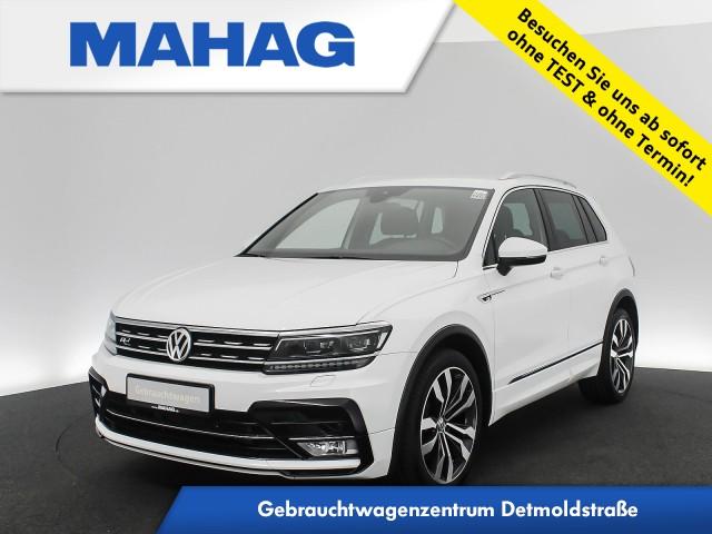Volkswagen Tiguan 2.0 TSI 4mot. R-Line Highline Navi LED ActiveInfo eKlappe AppConnect ParkPilot DynLightAssist LaneAssist FrontAssist 20Zoll DSG, Jahr 2017, Benzin