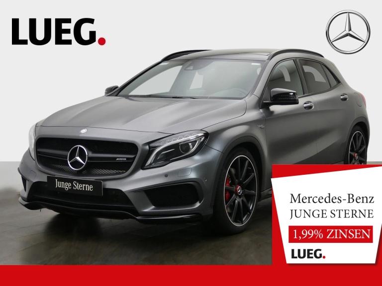 Mercedes-Benz GLA 45 AMG 4M Navi+Pano+BiXenon+H&K+20+AbGas+RFK, Jahr 2016, Benzin