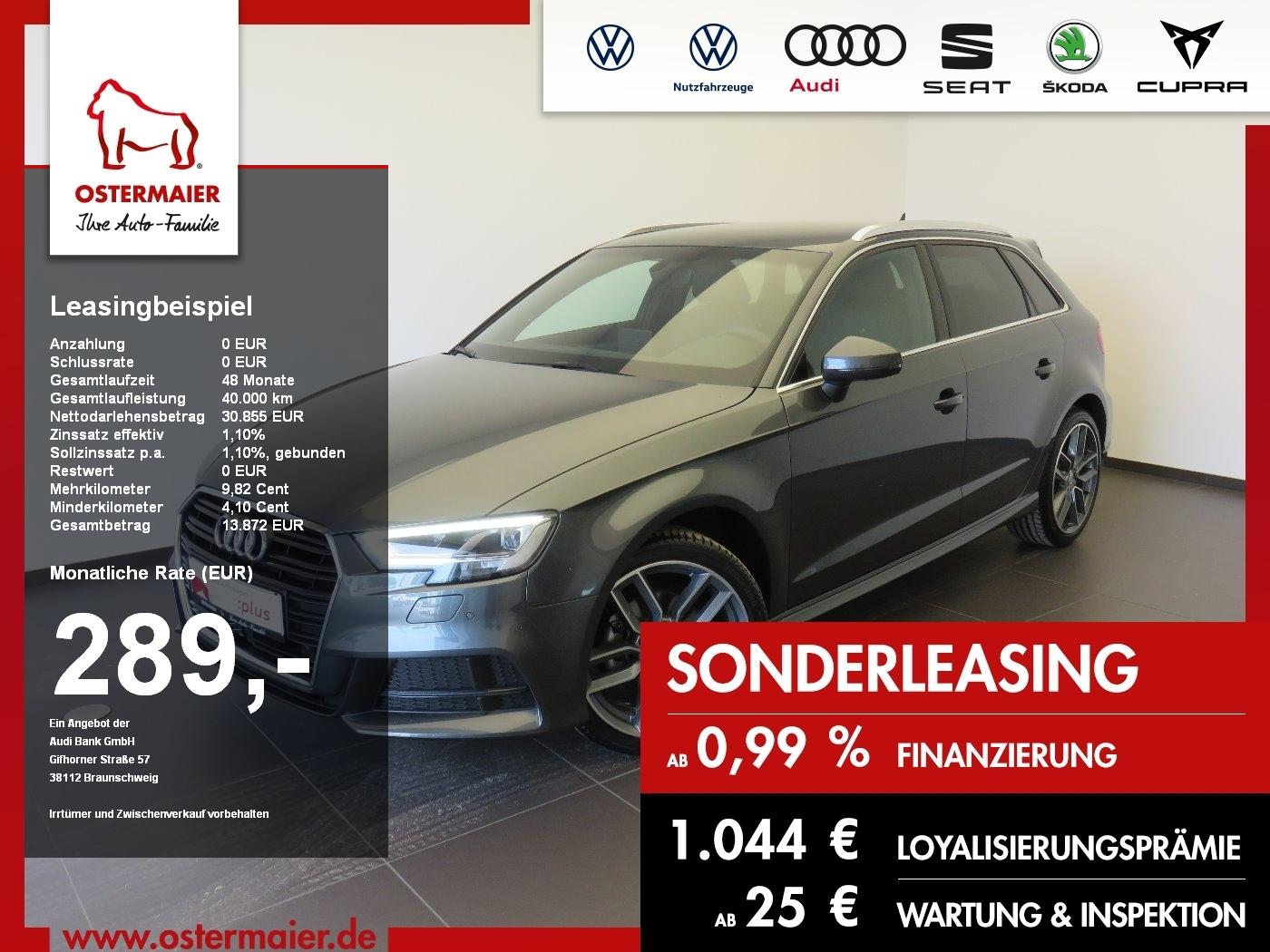 audi a3 sportback g-tron s-line exp s-tronic 299eur, jahr 2019, gas