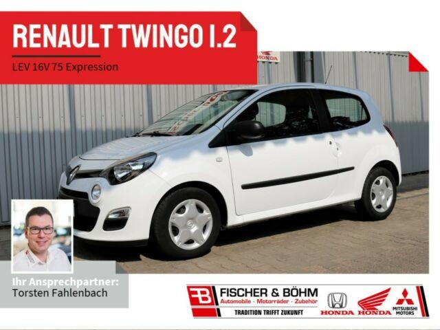 Renault Twingo Expression 1.2 LEV 16V 75 eco2, Jahr 2014, Benzin