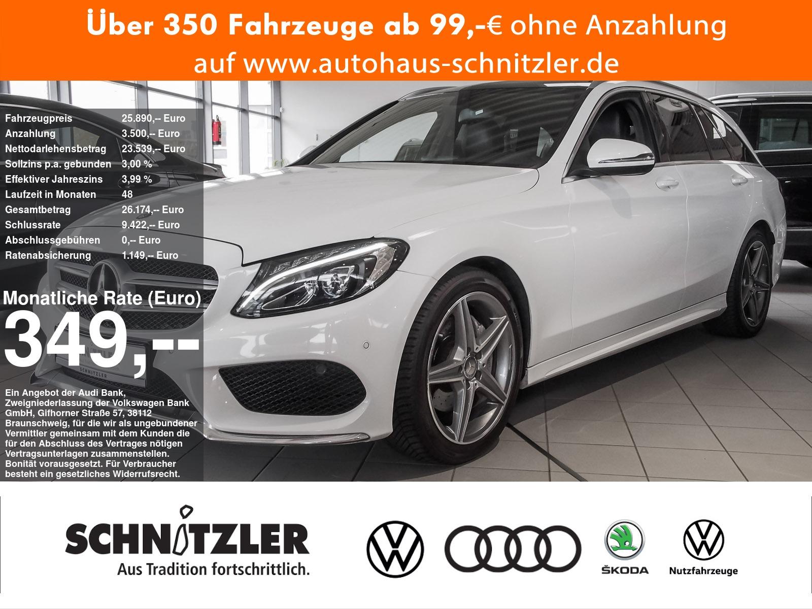 Mercedes-Benz C 180 CGI T AMG Line **349,-mtl. Rate**, Jahr 2015, Benzin