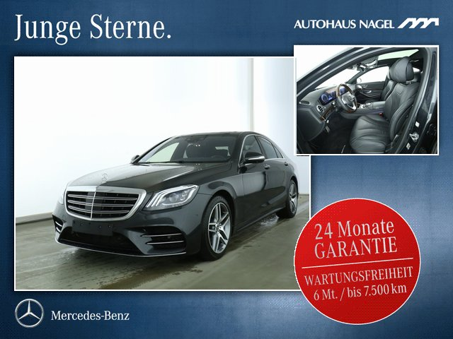 Mercedes-Benz S 560 4M AMG Line+Nacht+Pano+Chauffeur:LP:165Ž, Jahr 2018, petrol