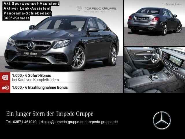 Mercedes-Benz E63 AMG 4M+ COMAND+MULTIBEAM+PANO+360°+DISTRONIC, Jahr 2019, Benzin
