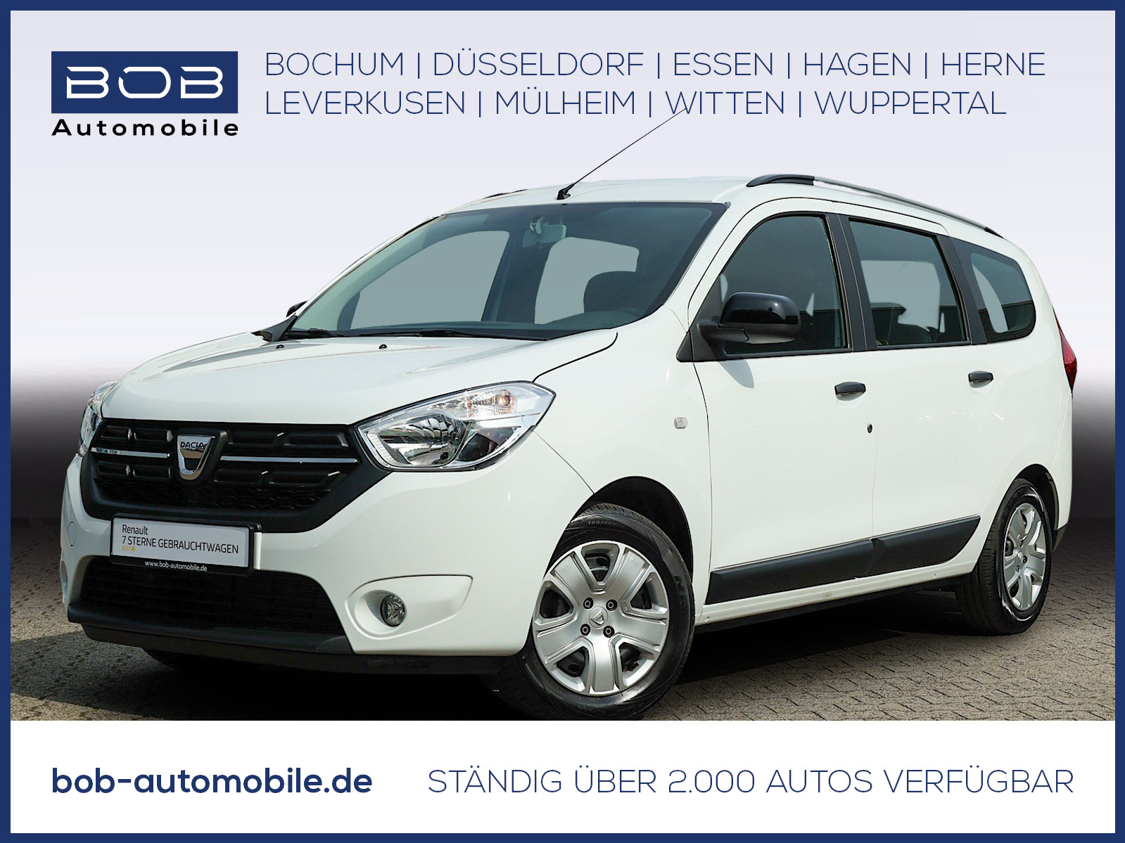 Dacia Lodgy 1.3 TCe 100 Comfort AHK KLIMA BT 5-SITZE, Jahr 2020, Benzin