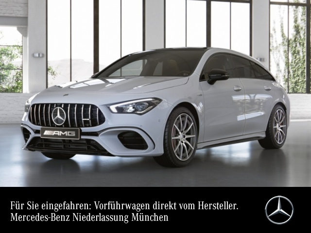 Mercedes-Benz CLA 45 S 4MATIC Shooting Brake Sportpaket Navi LED, Jahr 2019, Benzin