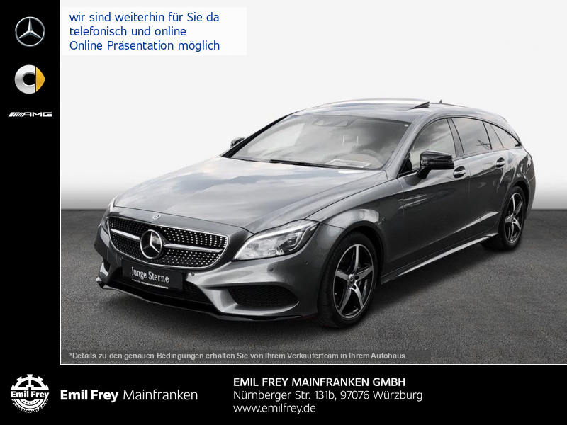 Mercedes-Benz CLS 350 SB d 4M AMG+Night+MBeam+HiFi+Schbd+Sitzklima, Jahr 2017, Diesel