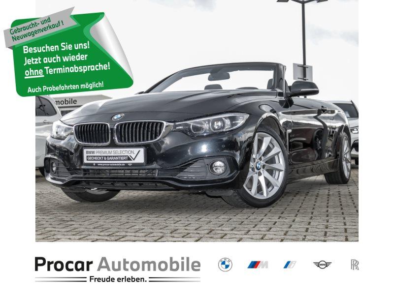 BMW 430i Cabrio Advantage Navi Bus. 18 PDC v+hi., Jahr 2018, Benzin