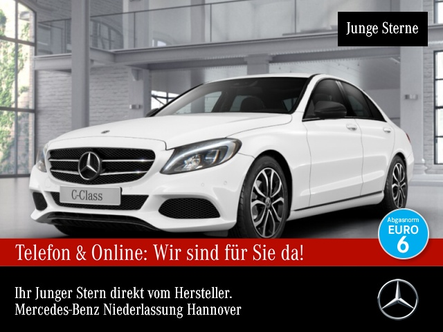 Mercedes-Benz C 200 4M Avantgarde LED AHK Night Kamera Navi PTS, Jahr 2018, Benzin