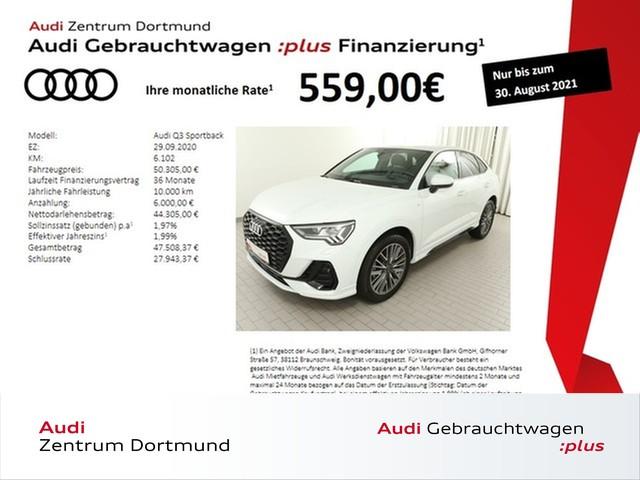 Audi Q3 Sportback 35TFSI 2xS line/ACC/Matrix/Black/VC, Jahr 2020, Benzin