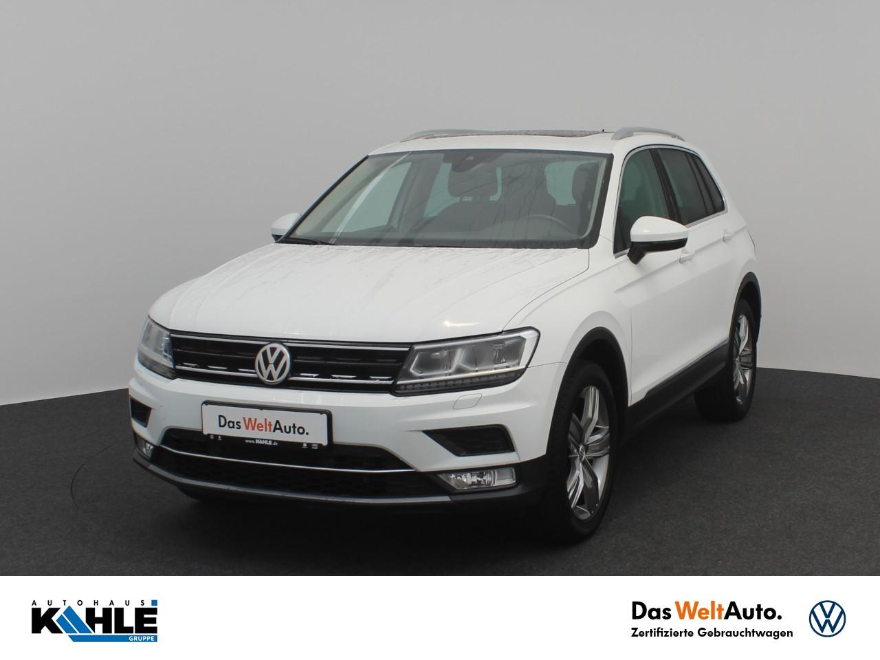 Volkswagen Tiguan 2.0 TDI DSG 4-Motion Highline Navi AHK Standheizung LED Klima, Jahr 2016, Diesel