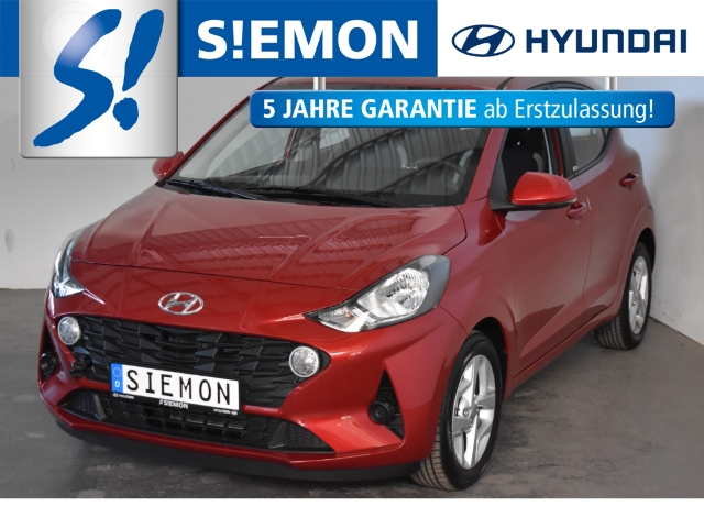 Hyundai i10 NEW 1.0 Trend Klima Tempomat SHZ DAB CarPlay, Jahr 2020, Benzin