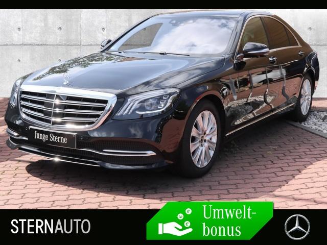 Mercedes-Benz S 450 4M Burm.COMAND DISTR.HUD ILS Pano TV WLTP, Jahr 2018, petrol
