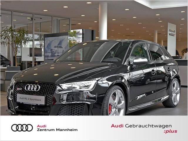 Audi RS3 Sportback 2.5 TFSI quattro S tronic LED Navi PanoDach Leder GRA LM SD PDC, Jahr 2016, petrol