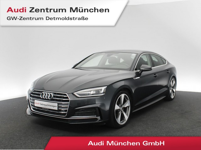 Audi A5 Sportback 2.0 TFSI Design S line AHK Matrix Navi Assistenz R-Kamera el.Heckklappe S tronic, Jahr 2018, Benzin