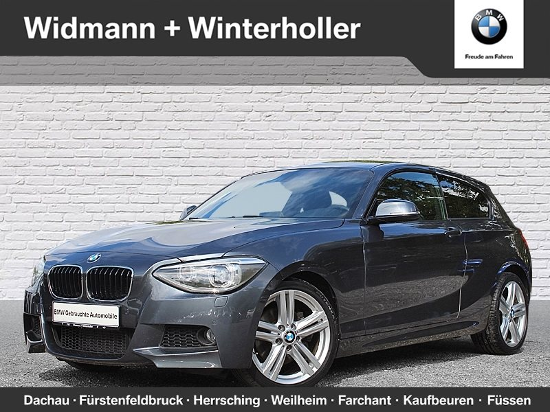 BMW 125i 3-Türer M Sportpaket HiFi DAB Xenon USB, Jahr 2013, petrol