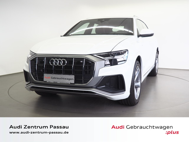 Audi Q8 50 TDI quattro S line/Air/Leder/AAS/AHK/Stdhzg./virt. Cock., Jahr 2018, Diesel