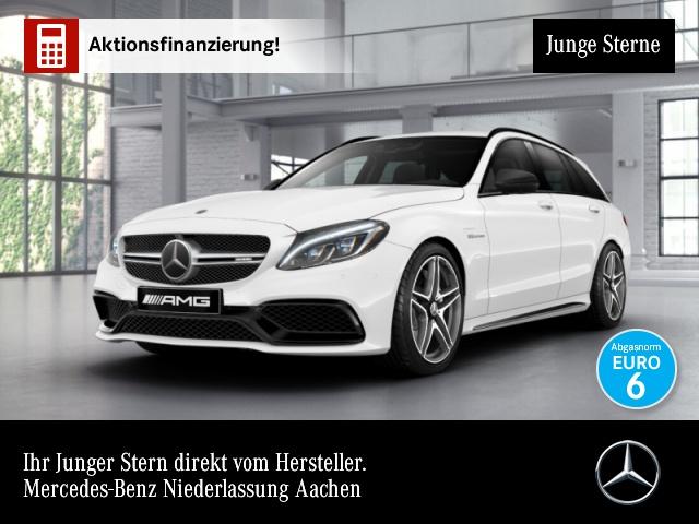 Mercedes-Benz C 63 AMG T Driversp PerfSitze+Abg Distr. 360°HUD, Jahr 2017, petrol
